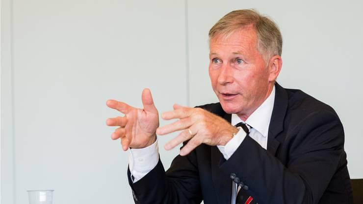 Alfred Schmid liess 2012 beinahe die Barrage-Spiele platzen.