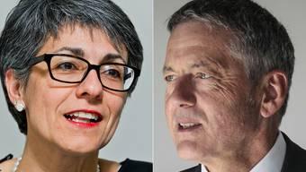 Kathrin Scholl (alv) und Werner Sprenger (Stiftung Schürmatt).