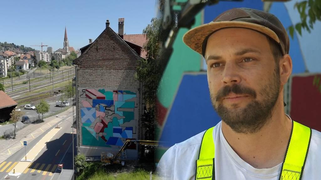 «Unorte verschönern» – hier entsteht das grösste Wandgemälde St.Gallens