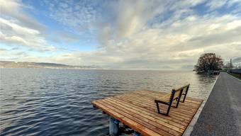 Erst an wenigen Orten ist der Zürichsee-Uferweg Realität: Wie etwa hier zwischen Wädenswil und Richterswil