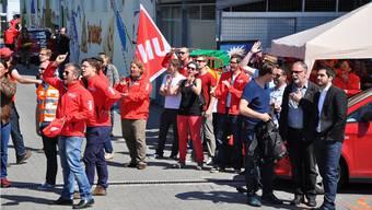 Die Unia bildet am «Spar»-Streik die vorderste Front.