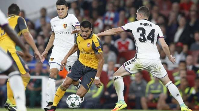 Der FCB als Spielball von Arsenals Eleganz. Doch sind Auftritte in der Champions League bald schon Geschichte? Foto: Keystone