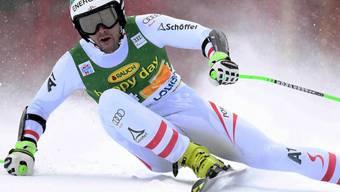 Vincent Kriechmayr - hier bei seiner Fahrt in Lake Louise - feiert seinen ersten Weltcupsieg