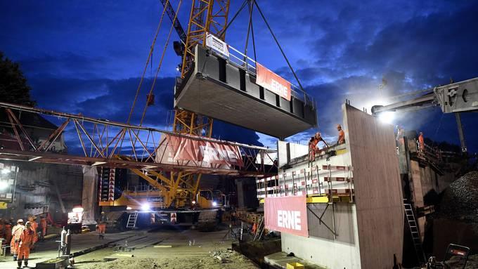 SBB Brücke in Zurzach wird verlegt
