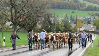 Einer der bewegendsten Momente: Die Familie Mägli verlässt mit ihrem Vieh das Dorf und siedelt aus.
