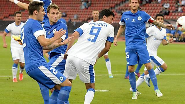 Amine Chermiti (Nr. 9) erzielte per Kopf das 1:0 für den FCZ.