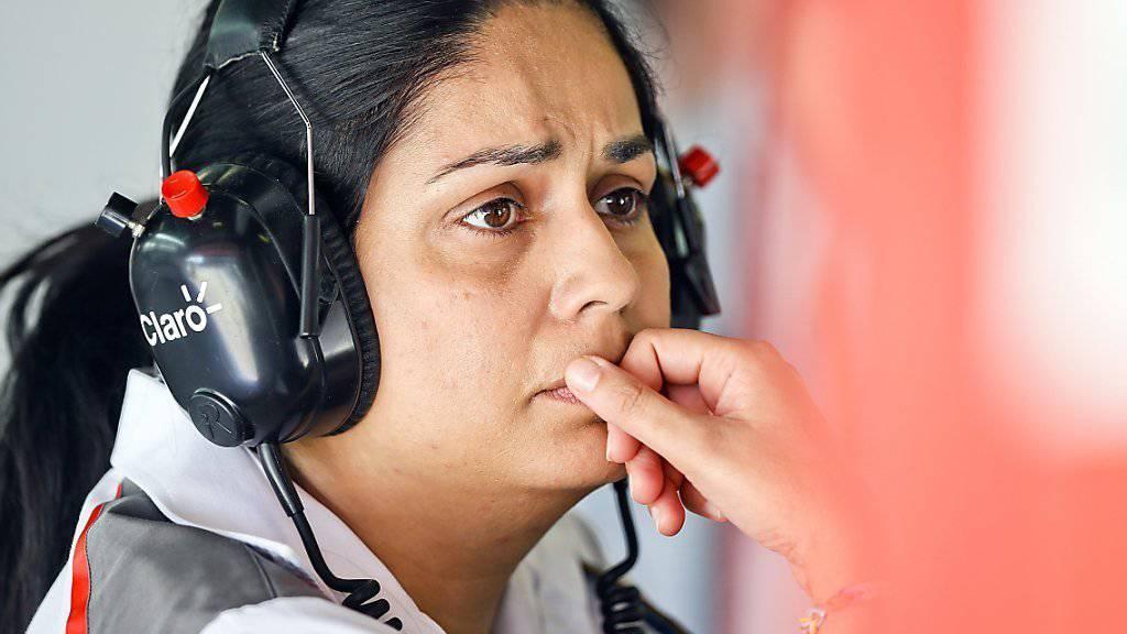 Sauber-Teamchefin Monisha Kaltenborn mit nachdenklichem Blick