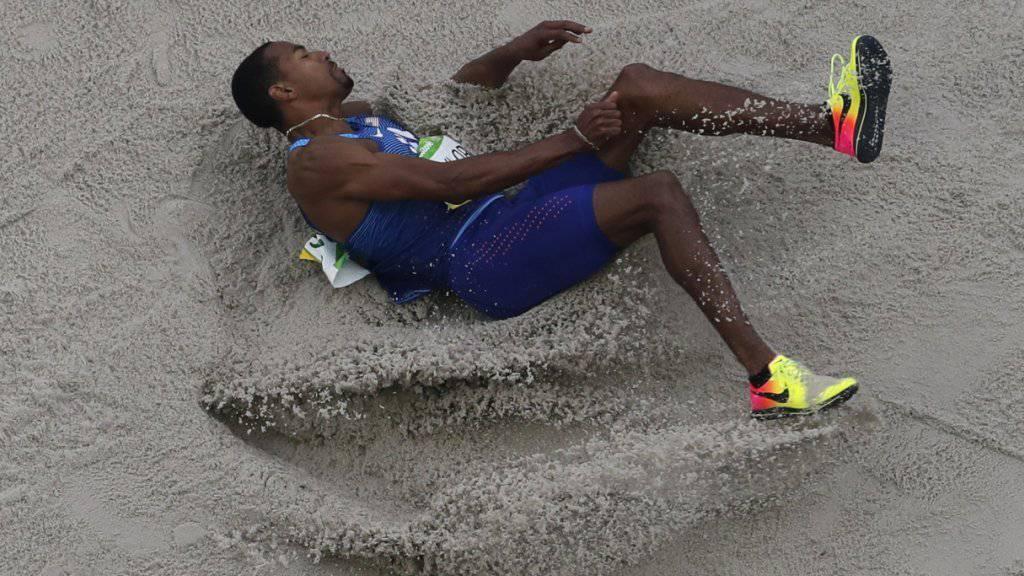 Christian Taylor holte sich das zweite olympische Gold im Dreisprung nach 2012