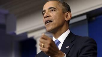 Präsident Barack Obama wirft den Republikanern Erpressung vor.