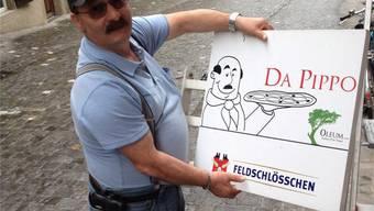 Das Schild ist abmontiert. Ende Juni läuft der Mietvertrag von Wirt Giuseppe «Pippo» Salvatore aus. ZVG