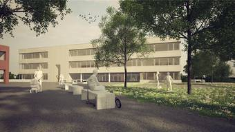 Das neue Primarschulhaus bietet Platz für 18 Abteilungen. zvg/Visualisierung
