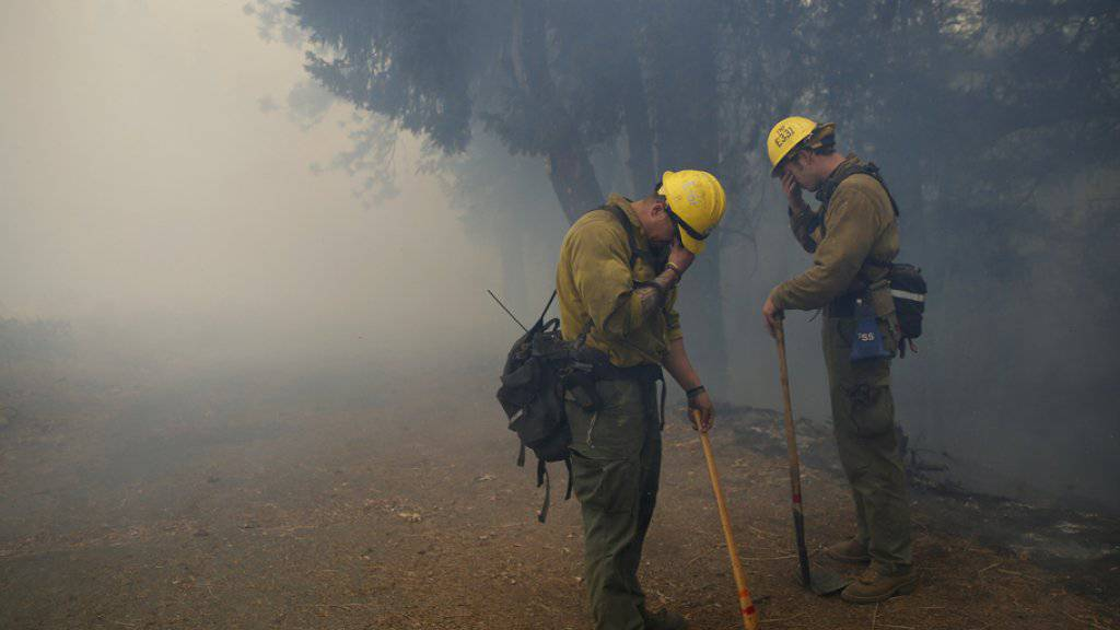 Mehrere tausend Feuerwehrleute sind im Einsatz, um die Flammen zu löschen.