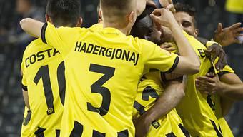 Die Young Boys feiern Kantersieg zum Europa-League-Auftakt