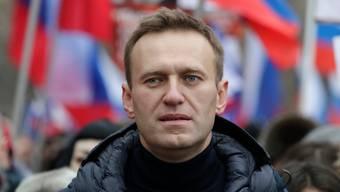 Alexej Nawalny an einem Protestmarsch im Februar 2019.