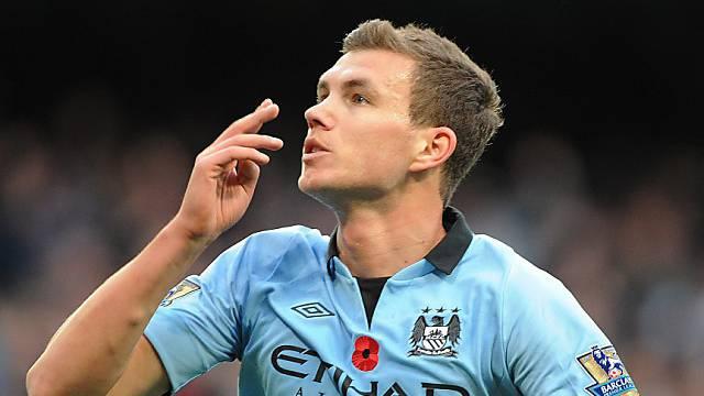 Matchwinner für Manchester City: Edin Dzeko