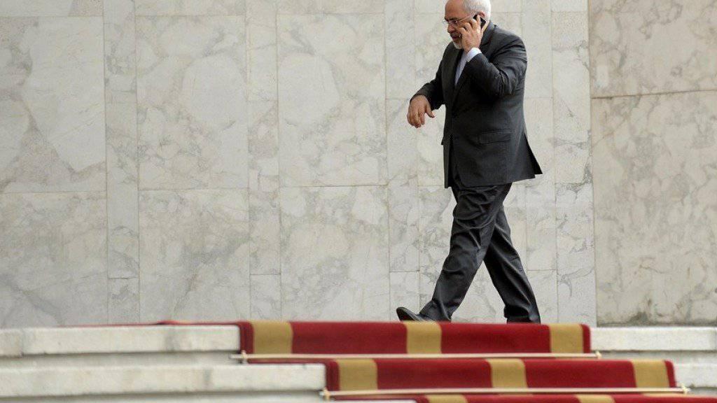 Wird am Freitag in Wien zu internationalen Syrien-Gesprächen erwartet: Irans Aussenminister Mohammed Dschawad Sarif. (Archivbild)