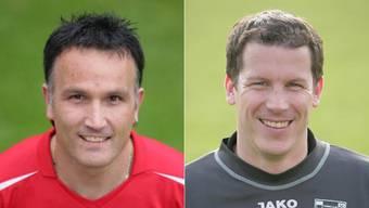 Rolf Leibundgut (Trainer FC Biberist) und Dominik Portmann (Präsident).
