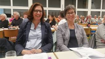 Neu dabei: Susanne Rölli (l.) ist neue Gemeindeschreiberin Bruneggs und Nachfolgerin von Brigitte Woodtli. Zuvor war Rölli in Leutwil tätig. Susanne Richner, vorher ebenfalls in Leutwil/Hallwil, ersetzt die abtretende Finanzleiterin Manuela Hochuli.
