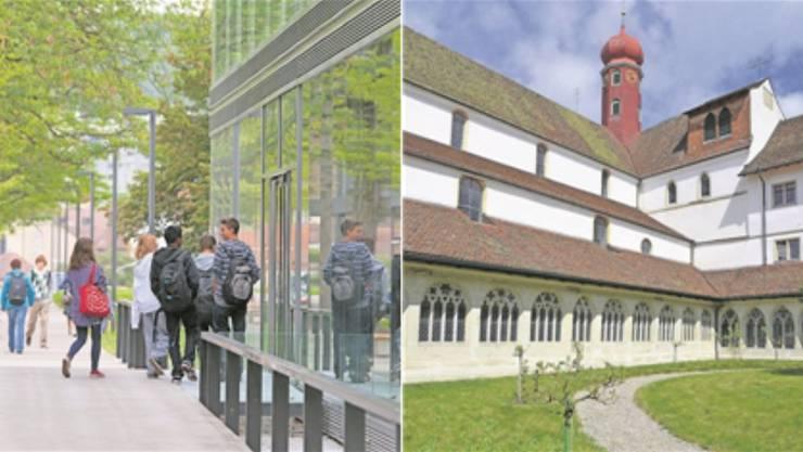 Kantonsschule Baden (links): Zwei Prorektorinnen erhielten eine Absage, was für Kritik sorgte. Kanti Wettingen (rechts): Der amtiertender Prorektor wurde zum Rektor ernannt.