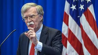 US-Sicherheitsberater John Bolton vor den Medien in Genf.