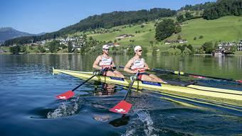 Roman Röösli (rechts) und Barnabé Delarze können endlich wieder auf dem Wasser trainieren