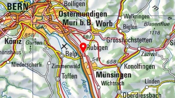 Ein Verkehrsunfall auf der A6 bei Rubigen sorgt im Raum Bern für einen kilometerlangen Rückstau.