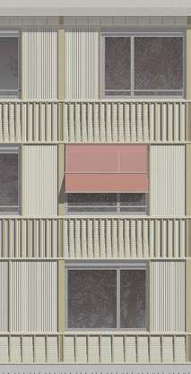 So wird sich die Fassade des neuen Wohnheims präsentieren
