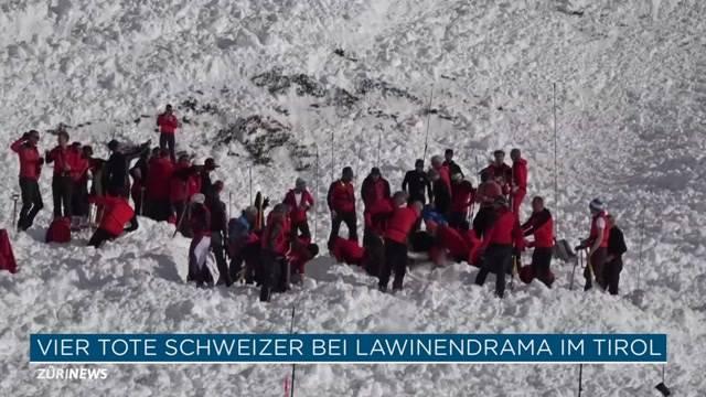 Vier Tote Schweizer bei Lawinendrama im Tirol