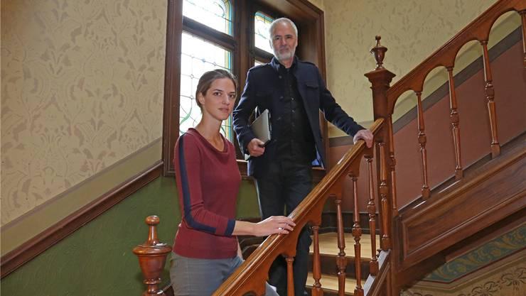 Eingespieltes Team: Maria Ursprung und Silvio Huonder im Literaturinstitut in Biel.Enrique Munoz Garcia/BZ