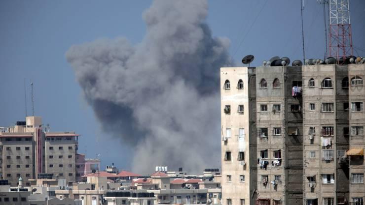 Rauch über Gaza City (Archiv)