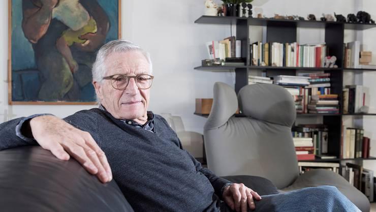 «Ich erlebte das Leben wie einen realen Film, der mich häufig abhielt, etwas anderes parallel zu machen.» Rolf Lyssy zu Hause in Zürich. Daniel Desborough