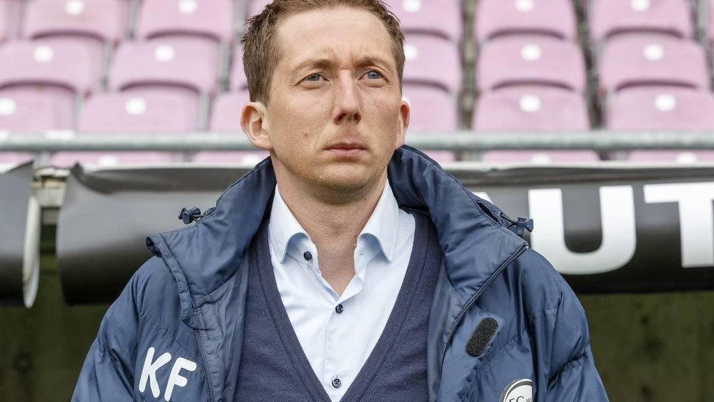 Bald nicht mehr Trainer des FC Wil: Konrad Fünfstück.
