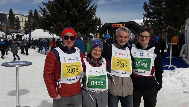 Steinachers im Marathon Village in St.Moritz