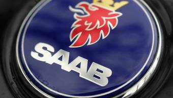 Das Logo des Autoherstellers Saab (Archiv)