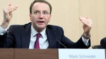 Setzt auf Kontinuität in der Strategie und der Dividendenpolitik: Nestlé-CEO Mark Schneider. on/Keystone