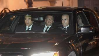 Renzi bei der Ankunft beim Quirinalspalast, dem Dienstsitz von Staatspräsident Mattarella.