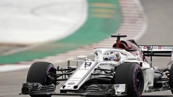 Holte wegen zwei vor ihm disqualifizierten Fahrern doch noch einen WM-Punkt in Austin: der Schwede Marcus Ericsson im Alfa Romeo Sauber-Ferrari