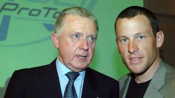 UCI-Präsident Hein Verbruggen und Lance Armstrong