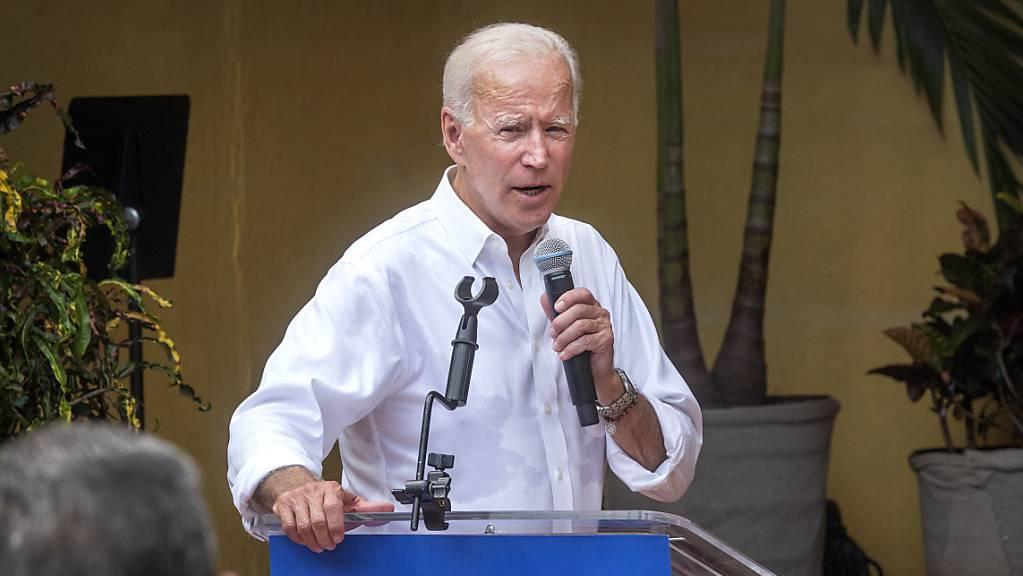 «Klare Korruption»: Joe Biden, früherer US-Vizepräsident und jetziger Präsidentschaftsbewerber bei den Demokraten. (Archivbild)