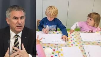 Nach Bildungsminister Alex Hürzeler soll die Mundart-Initiative «pragmatisch» umgesetzt werden.