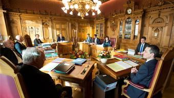 Im Bundesratszimmer im Bundeshaus West kommt es heute zum Showdown in der Europa-Frage. Peter Klaunzer/Keystone