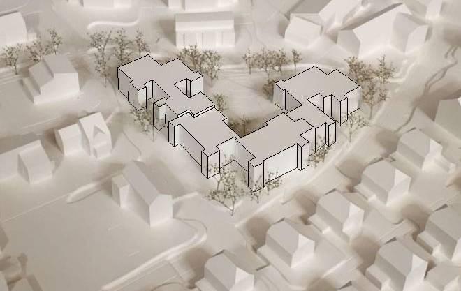 Übersicht Projekt Weiermatt in Lupfig, wo die Wohnbaugenossenschaft Lägern 29 Wohnungen bauen will.