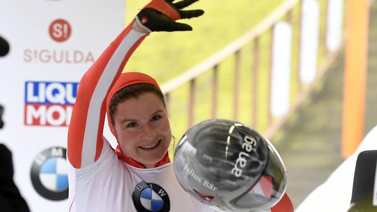 Jubel über Silber an der EM in Sigulda. Auch an der WM geht Marina Gilardoni nicht chancenlos ins Rennen