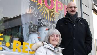 Daniela Fleischmann, Leiterin des«Hope», und Röbi Peter, Koch und Leiter der sogenannten Wohnexternate.
