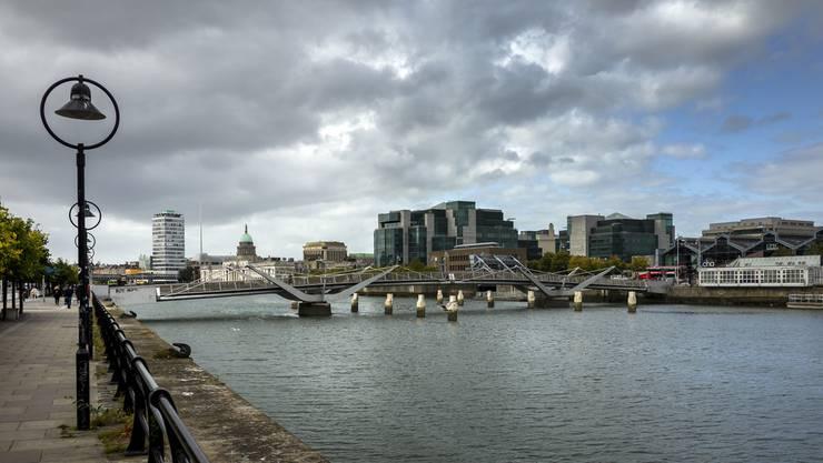 Irland verkündet als erstes Land in Europa einen zweiten Lockdown. Im Bild: Der River Liffey in Dublin.