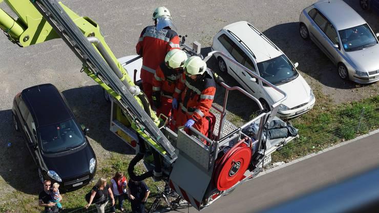 Die Feuerwehr stellte sich auf dem Chilbiplatz einer mehrfachen Herausforderung.