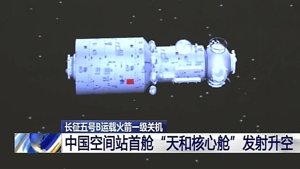 Mit dem Bau einer eigenen Raumstation hat China das bisher grösste Vorhaben seines ehrgeizigen Weltraumprogramms begonnen. (Archivbild)