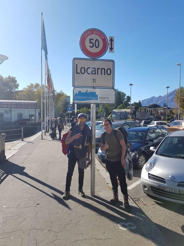 Gabriel und Silvan sind in Locarno angekommen. (Bild: zVg)
