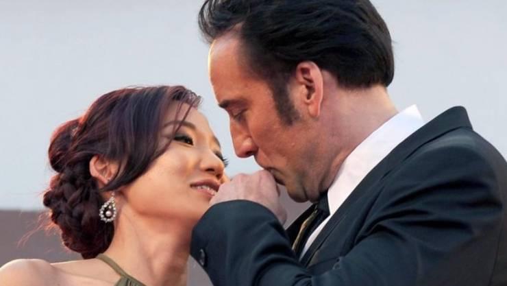 Nicolas Cage und Alice Kim haben sich im Januar getrennt. Im August hätten sie ihre zwölften Hochzeitstag gefeiert (Archiv)