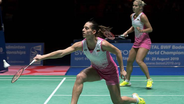 Gabriela Stoeva (R) und Stefani Stoeva im Finalspiel gegen Japans Ayako Sakuramoto und Yukiko Takahata. GEORGIOS KEFALAS/Keystone
